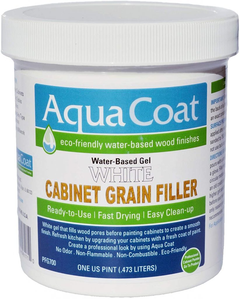 Aqua Coat, Best White Cabinet Wood Grain Filler