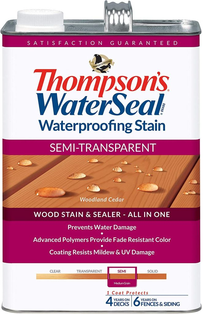 THOMPSONS WATERSEAL TH.042851-16 Semi-Transparent Waterproofing Stain