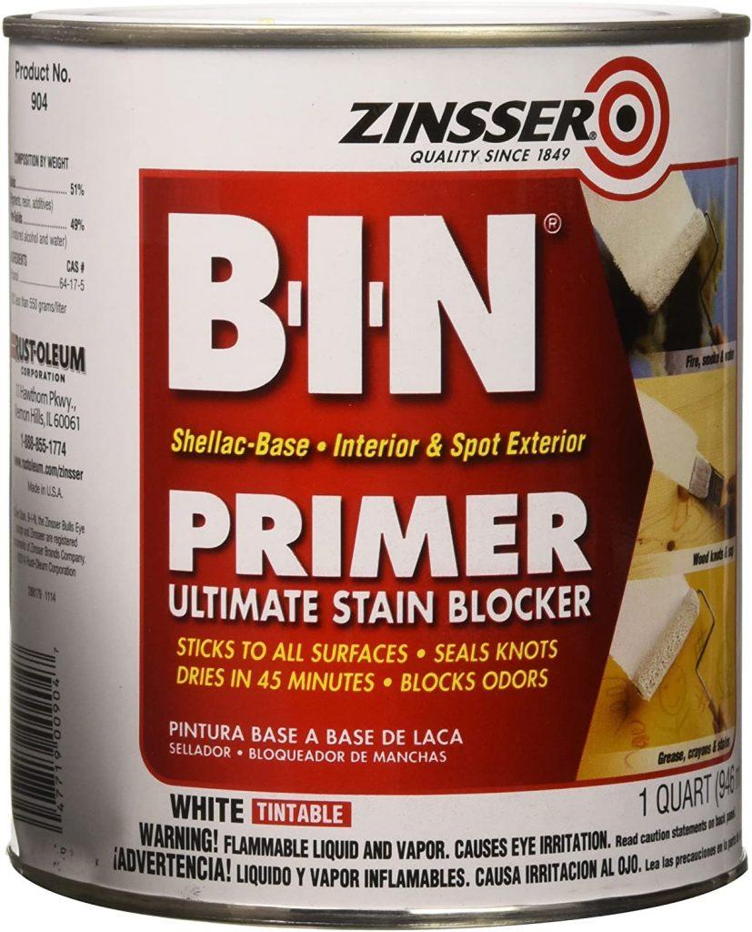 Zinsser 00904 B-I-N Pigmented Shellac Primer
