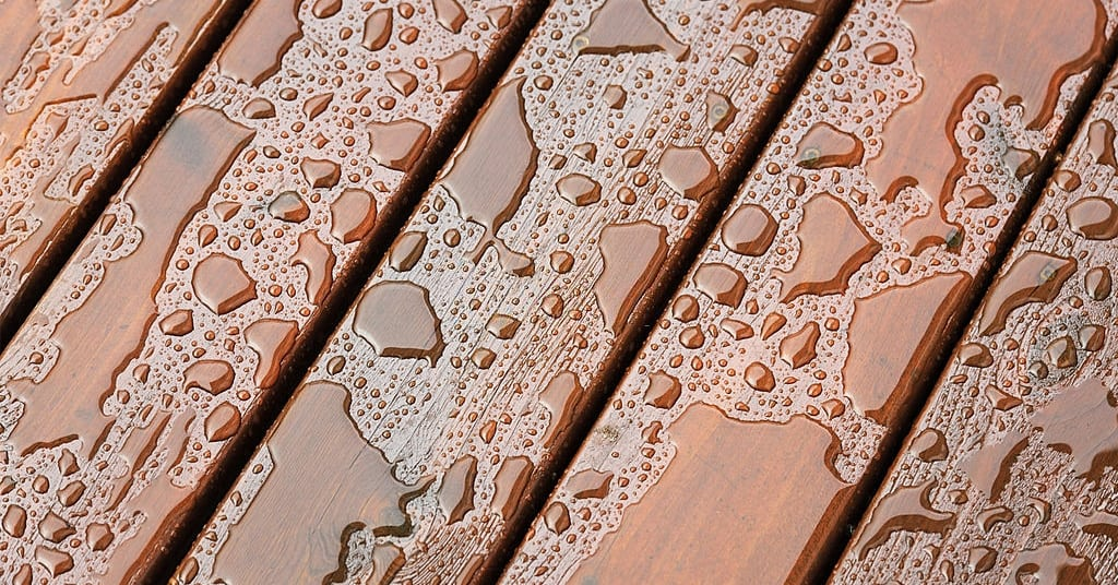 How to stain a deck while it rains